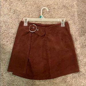 Burnt red corduroy skirt